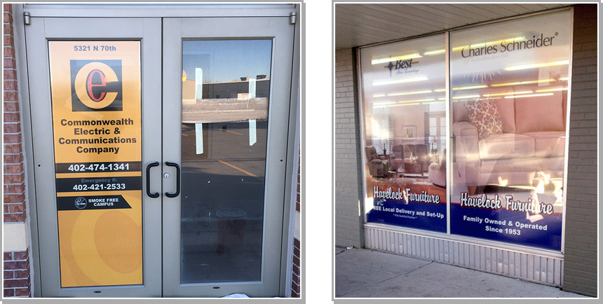 This Material Has Tiny Holes That Allows You, As The Business Owner To See  Through To Outside Traffic, While The Customer Only Sees The Design And Not  ...