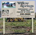 Willow Springs Sign