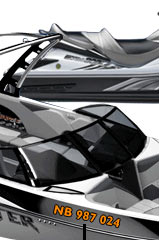Harris Decals Boat Lettering Graphics Registration Numbers - Custom boat numbers